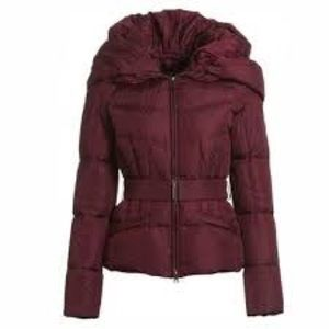 Add Down Belted Hooded Puffy Jacket